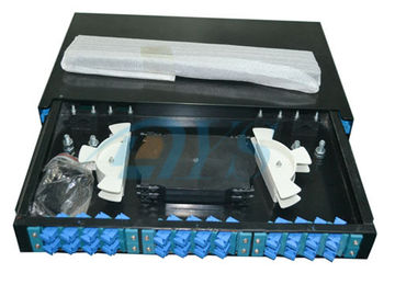 SC Slidable Odf Optical Fiber 19 Rack Mount  to Fiber Optic Termination Box