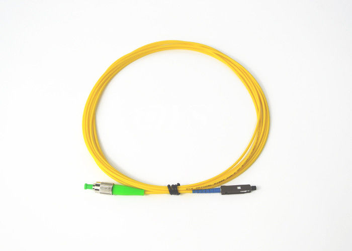 ประเทศจีน Simplex FC / APC to MU / UPC Optical Fiber Patch Cord ISO9001 / ROHS ผู้ผลิต