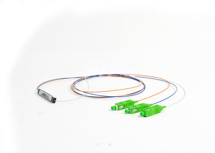 ประเทศจีน SC/APC 1x2 PLC Optical Fiber Splitter Singlemode stainless tube type Connectorized ผู้ผลิต