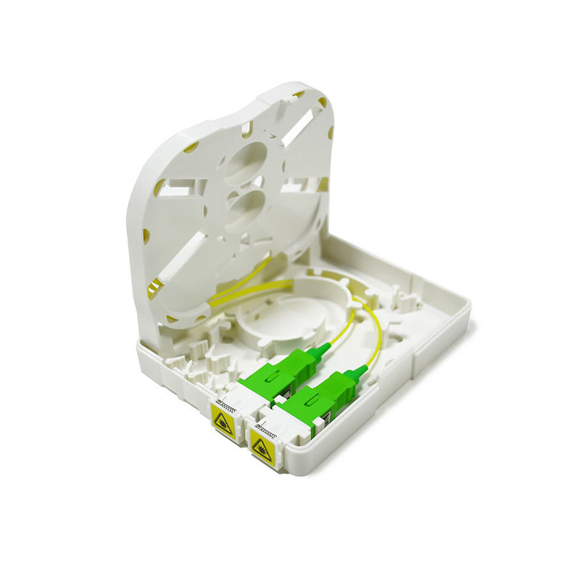 Light Weight 2 Port Fiber Termination Box ABS PC Wall Mounted Anti-UV ผู้ผลิต