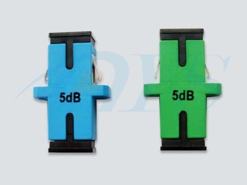 Green / Blue 5dB SC Fiber Optic Attenuator PC / UPC / APC For Fiber Optic CATV ผู้ผลิต