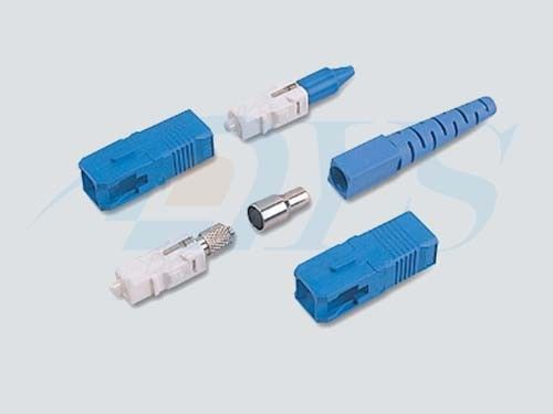 ประเทศจีน Blue SC / UPC Optical Fiber Connectors PC / UPC / APC Polishing With 9 / 125um Fiber ผู้ผลิต