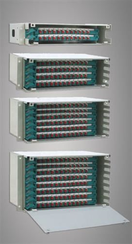 Stainless Steel ABS Fiber Optic Odf 96 Ports FC / SC / ST / LC for Wide Area Networks ผู้ผลิต