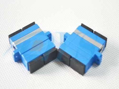 SC / UPC Duplex Moudle Fiber Optic Adapter with Flange for Fiber To the Home ผู้ผลิต