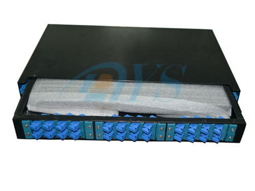 24 Core 19 Rack Mount Odf Optical Fiber , SC Slidable Jointing Fiber Cable ผู้ผลิต